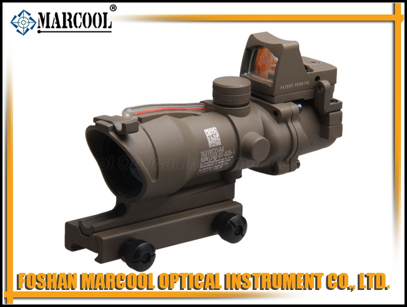 ACOG SCOPE GL 4X32 with Red fiber and RMR in Sand color