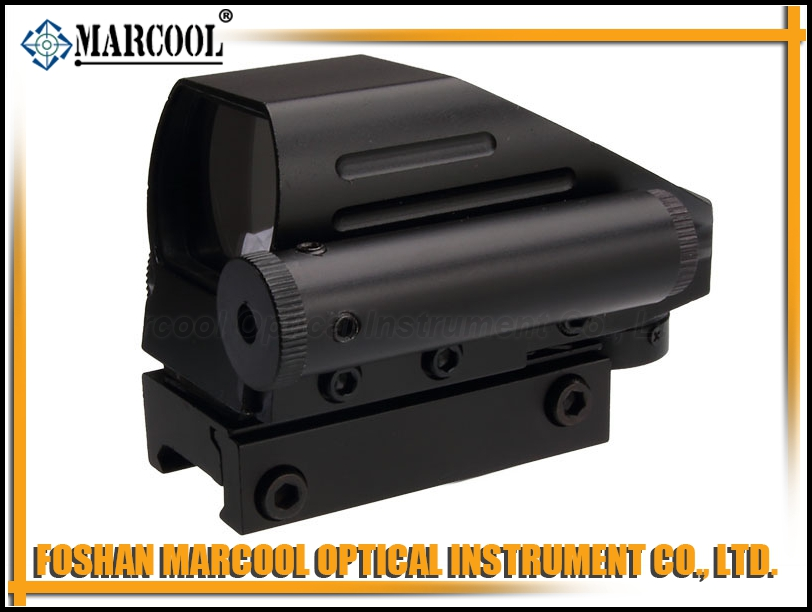 HD-103B Reflex SIGHT WITH RED LASER & 4 BIG RETICLE