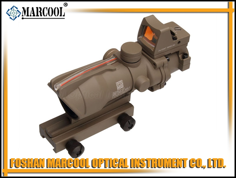 ACOG SCOPE GL 4X32 With Red Fiber and Dimming in Sand Color