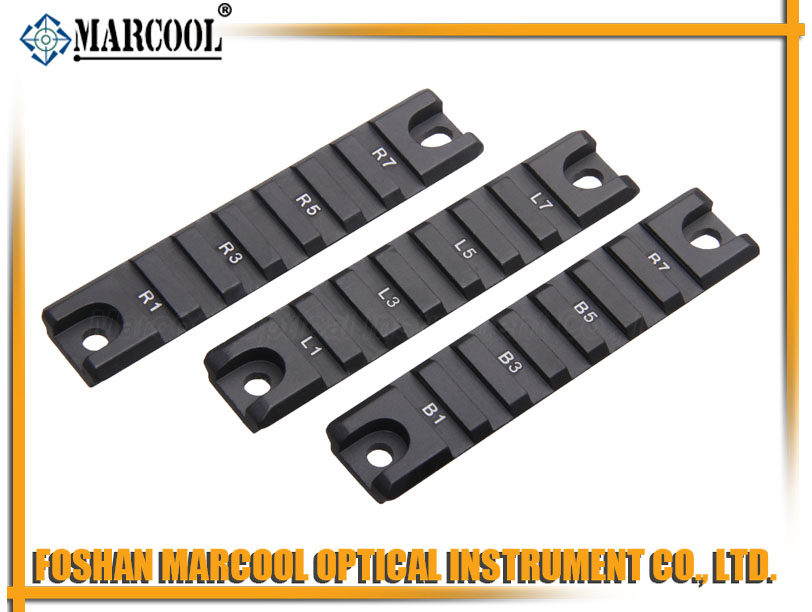 G36 Polymer Rail, 7 Slots , 3 pieces