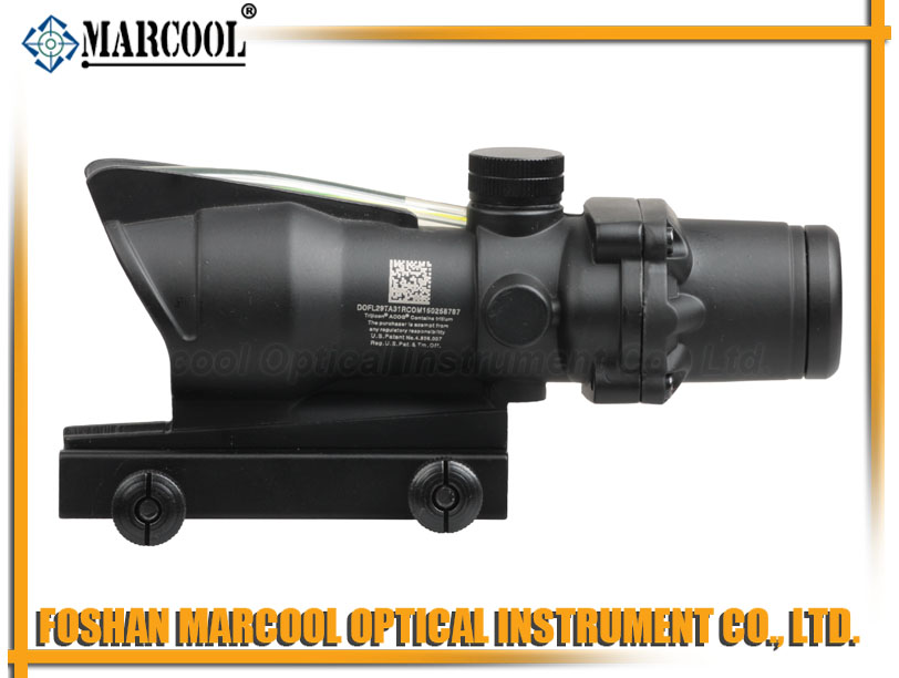ACOG Style 4X32 Fiber Source Green Illuminated Scope