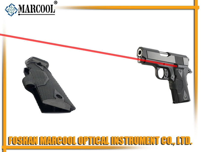 RED Laser grips for 1911 Black
