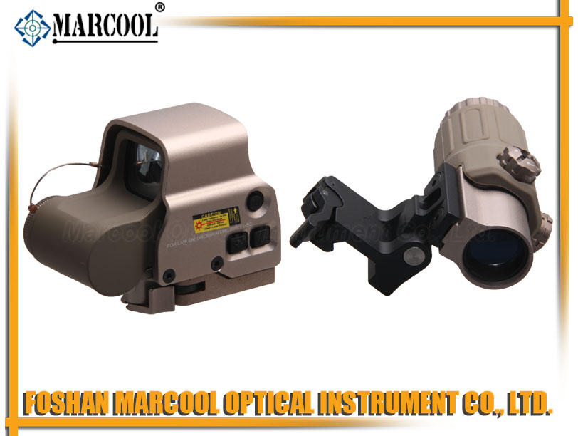Holographic Hybrid Sight 558B with G33.STS Magnifier In Gold color
