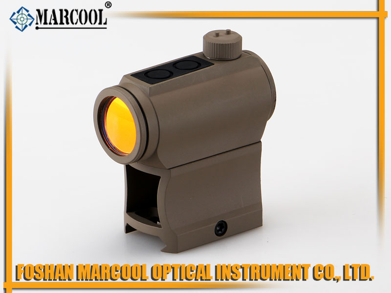 Micro T-1 Red Dot with Tall RIser in Sand Color