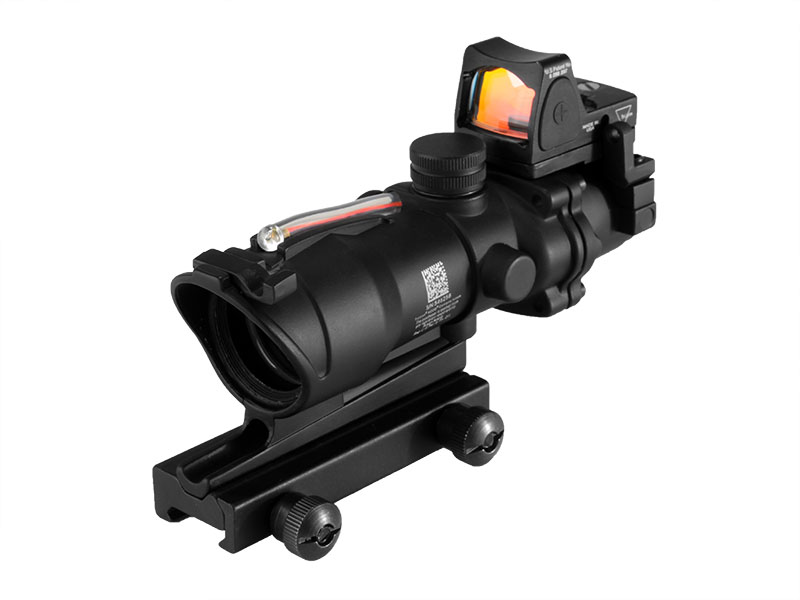ACOG Type GL 4X32 1 BZR+PM With Red Fiber & Dimming & Sight Bead  in Black