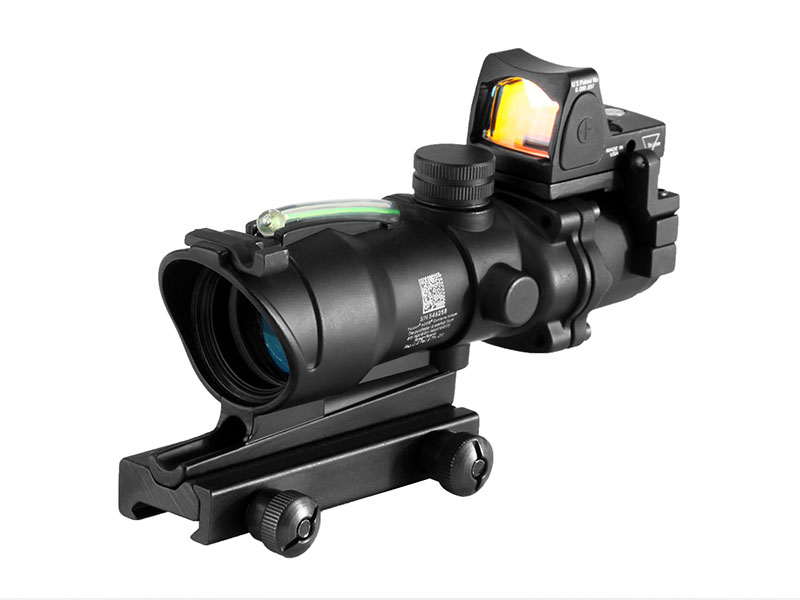 ACOG Type GL 4X32 1 BZG+PM With Green Fiber & Dimming & Sight Bead  in Black