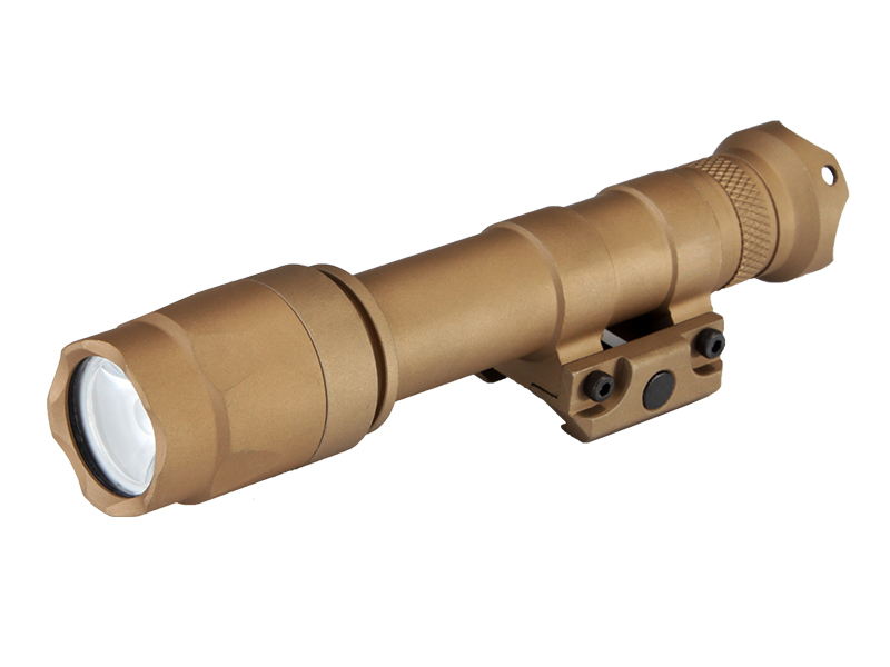 M600A LED Weapon Flashlight Weaver Rails-Mountable With Remote Pressure Switch In Tan